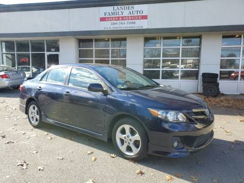 2012 Toyota Corolla for sale at Landes Family Auto Sales in Attleboro MA
