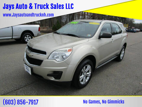 2013 Chevrolet Equinox for sale at Jays Auto & Truck Sales LLC in Loudon NH