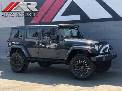 2016 Jeep Wrangler Unlimited for sale at Auto Republic Fullerton in Fullerton CA