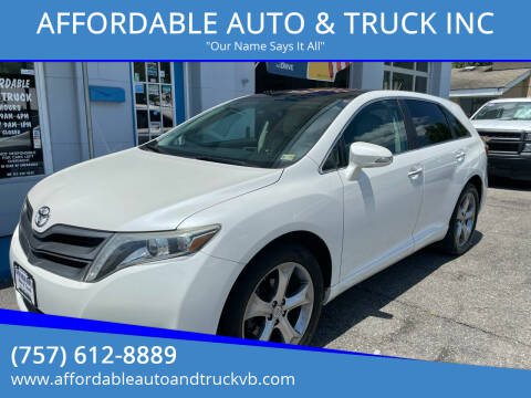 2013 Toyota Venza for sale at AFFORDABLE AUTO & TRUCK INC in Virginia Beach VA