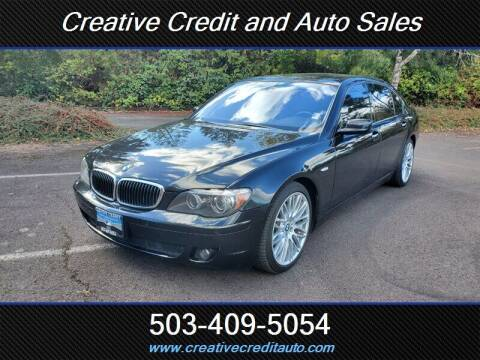 2008 BMW 7 Series for sale at Creative Credit & Auto Sales in Salem OR