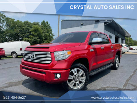 2016 Toyota Tundra for sale at Crystal Auto Sales Inc in Nashville TN