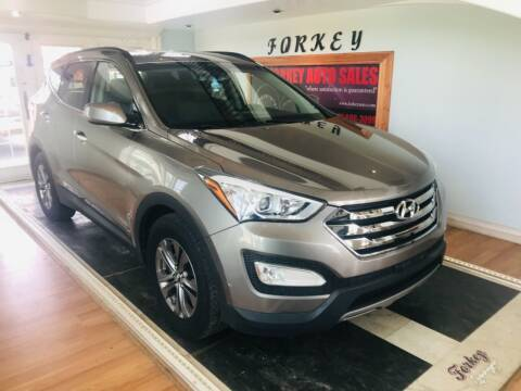 2014 Hyundai Santa Fe Sport for sale at Forkey Auto & Trailer Sales in La Fargeville NY