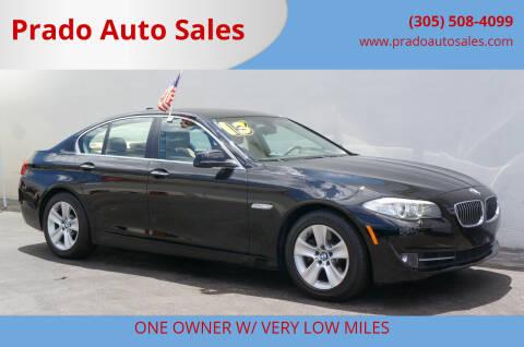 2013 BMW 5 Series for sale at Prado Auto Sales in Miami FL
