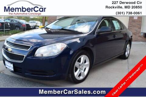 2011 Chevrolet Malibu for sale at MemberCar in Rockville MD