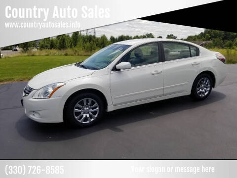 2010 Nissan Altima for sale at Country Auto Sales in Boardman OH
