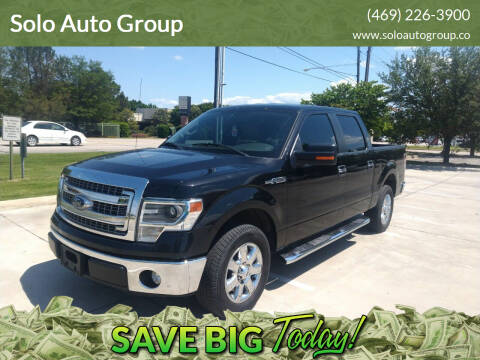 2014 Ford F-150 for sale at Solo Auto Group in Mckinney TX