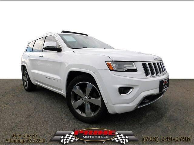 2014 Jeep Grand Cherokee for sale at PRIME MOTORS LLC in Arlington VA