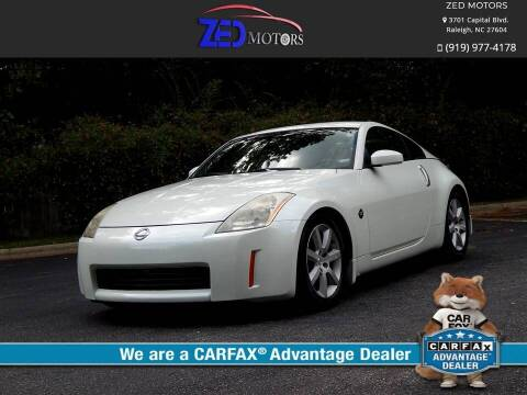 2003 Nissan 350Z for sale at Zed Motors in Raleigh NC
