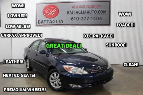2004 Toyota Camry for sale at Battaglia Auto Sales in Plymouth Meeting PA