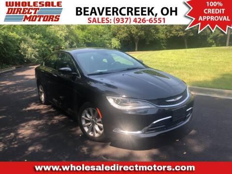 2015 Chrysler 200 for sale at WHOLESALE DIRECT MOTORS in Beavercreek OH