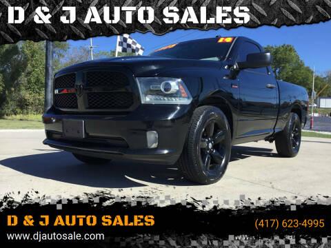 2014 RAM Ram Pickup 1500 for sale at D & J AUTO SALES in Joplin MO