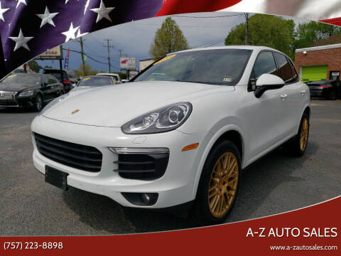 2017 Porsche Cayenne for sale at A-Z Auto Sales in Newport News VA