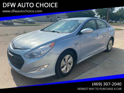 2014 Hyundai Sonata Hybrid for sale at DFW AUTO CHOICE in Dallas TX