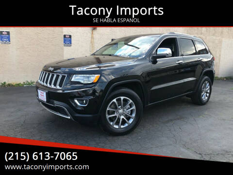 2015 Jeep Grand Cherokee for sale at Tacony Imports in Philadelphia PA
