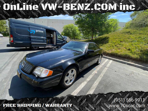 1996 Mercedes-Benz SL-Class for sale at OnLine VW-BENZ.COM Auto Group in Riverside CA