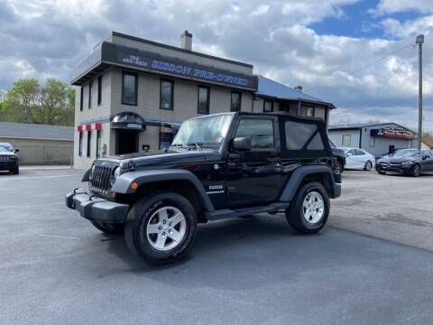2013 Jeep Wrangler for sale at Sisson Pre-Owned in Uniontown PA
