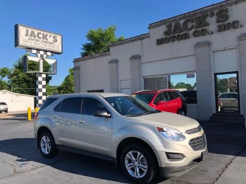 2016 Chevrolet Equinox for sale at JACK'S MOTOR COMPANY in Van Buren AR