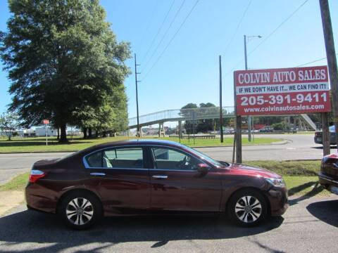 2015 Honda Accord for sale at Colvin Auto Sales in Tuscaloosa AL