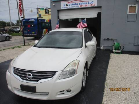 2012 Nissan Altima for sale at K & V AUTO SALES LLC in Hollywood FL