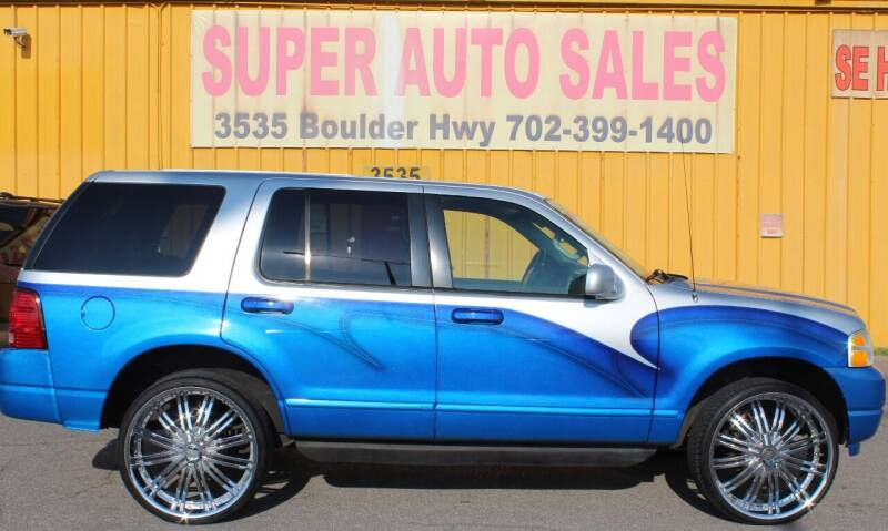 2002 Ford Explorer for sale at Super Auto Sales in Las Vegas NV