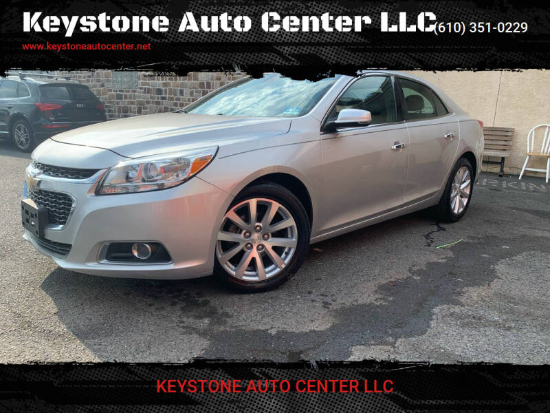 2015 Chevrolet Malibu for sale at Keystone Auto Center LLC in Allentown PA