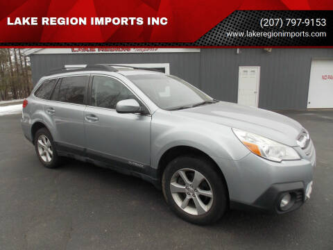 2013 Subaru Outback for sale at LAKE REGION IMPORTS INC in Westbrook ME