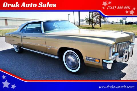 1971 Cadillac Eldorado for sale at Druk Auto Sales in Ramsey MN