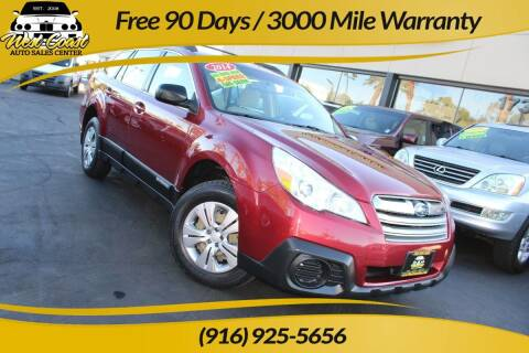 2014 Subaru Outback for sale at West Coast Auto Sales Center in Sacramento CA
