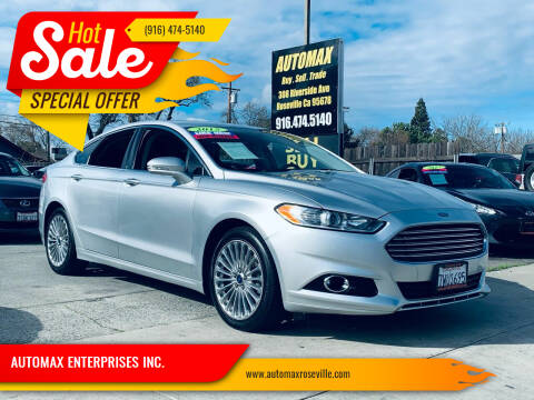 2015 Ford Fusion for sale at AUTOMAX ENTERPRISES INC. in Roseville CA