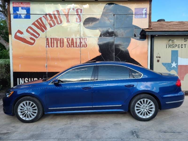2016 Volkswagen Passat for sale at Cowboy's Auto Sales in San Antonio TX