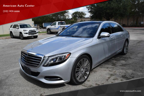 2016 Mercedes-Benz S-Class for sale at American Auto Center in Austin TX