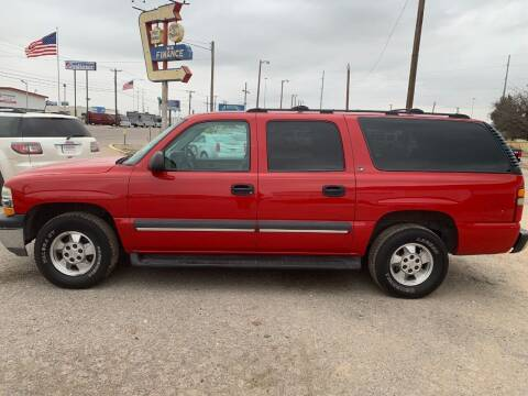 2002 Chevrolet Suburban for sale at WF AUTOMALL in Wichita Falls TX