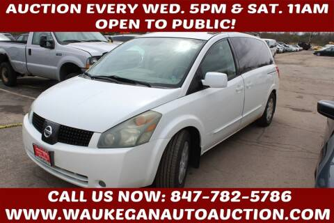 2004 Nissan Quest for sale at Waukegan Auto Auction in Waukegan IL