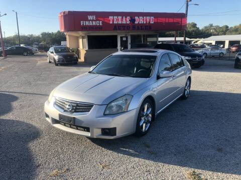 2007 Nissan Maxima for sale at Texas Drive LLC in Garland TX