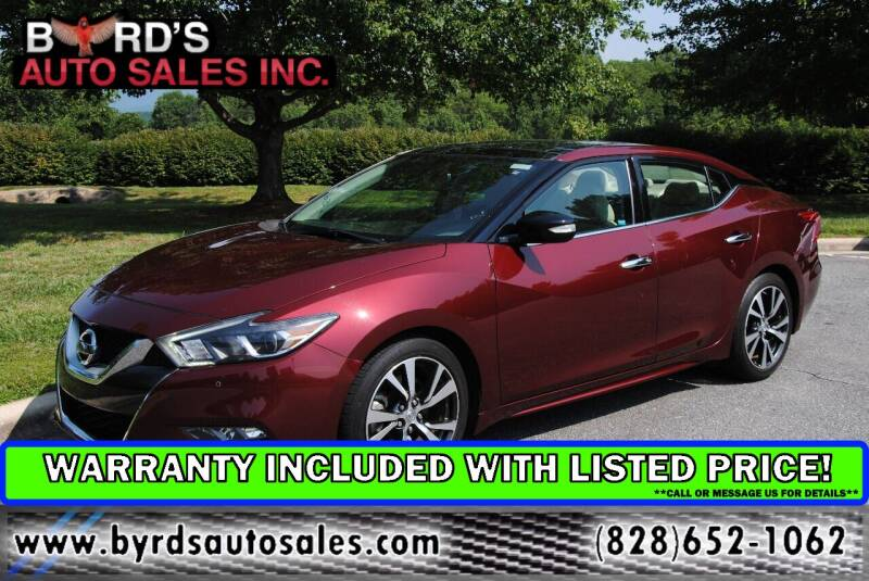 2017 Nissan Maxima for sale at Byrds Auto Sales in Marion NC