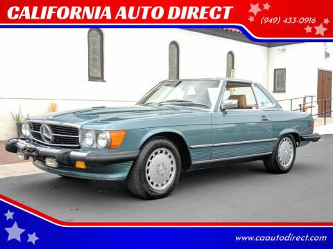 1987 Mercedes-Benz 560-Class for sale at CALIFORNIA AUTO DIRECT in Costa Mesa CA