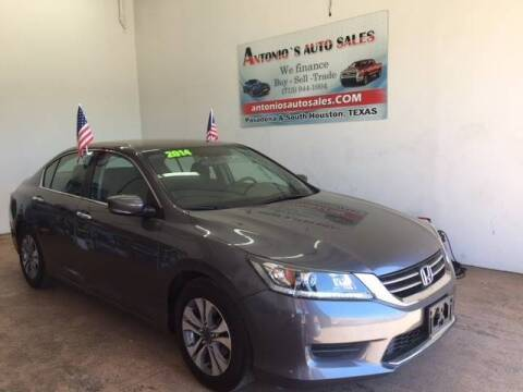 2014 Honda Accord for sale at Antonio's Auto Sales in South Houston TX
