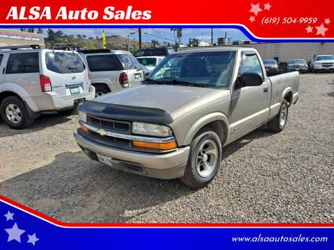 2000 Chevrolet S-10 for sale at ALSA Auto Sales in El Cajon CA
