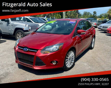 2012 Ford Focus for sale at Fitzgerald Auto Sales in Jacksonville FL