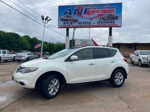 2012 Nissan Murano for sale at ANF AUTO FINANCE in Houston TX