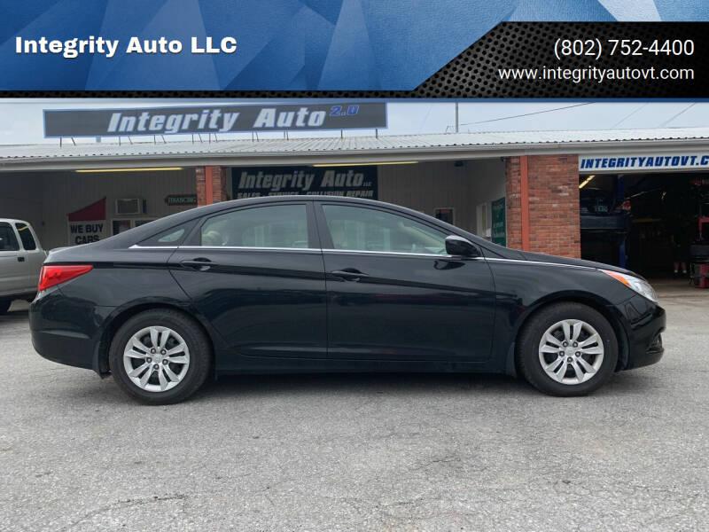 2011 Hyundai Sonata for sale at Integrity Auto LLC in Sheldon VT