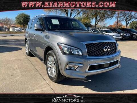 2016 Infiniti QX80 for sale at KIAN MOTORS INC in Plano TX