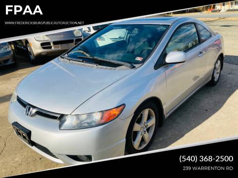 2007 Honda Civic for sale at FPAA in Fredericksburg VA