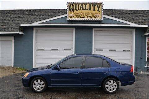 2002 Honda Civic for sale at Quality Pre-Owned Automotive in Cuba MO