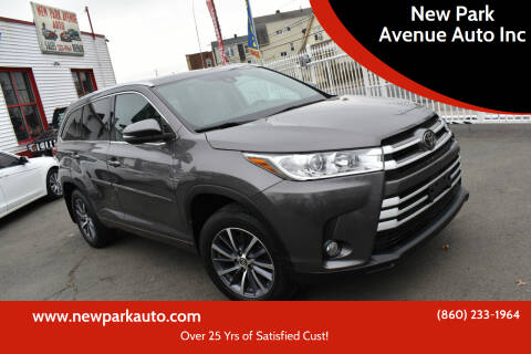 2018 Toyota Highlander for sale at New Park Avenue Auto Inc in Hartford CT