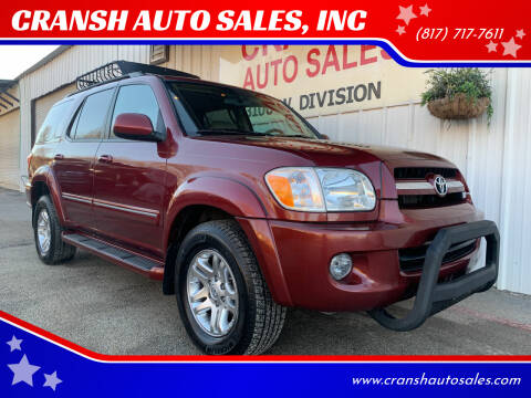 2006 Toyota Sequoia for sale at CRANSH AUTO SALES, INC in Arlington TX
