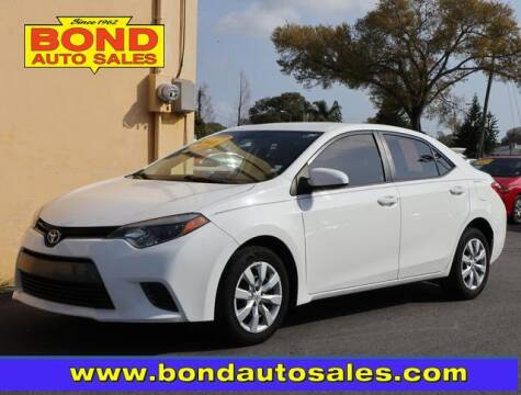 2016 Toyota Corolla for sale at Bond Auto Sales in St Petersburg FL