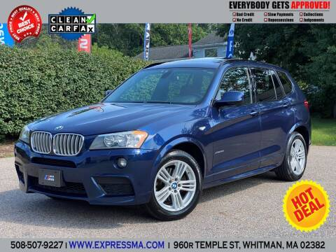 2011 BMW X3 for sale at Auto Sales Express in Whitman MA