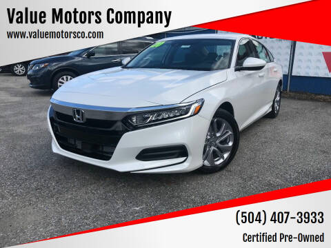 2020 Honda Accord for sale at Value Motors Company in Marrero LA
